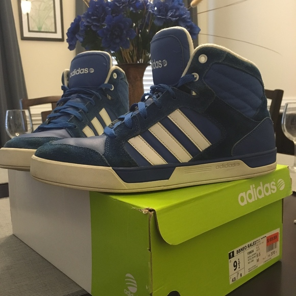Men's used Size 9.5 Adidas BBNEO Raleigh Mid Shoes